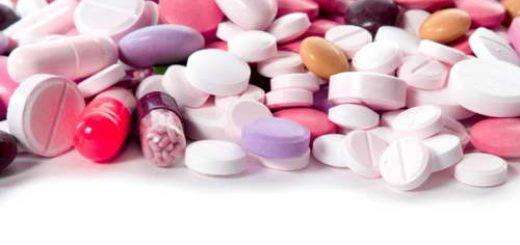 різнобарвні таблетки